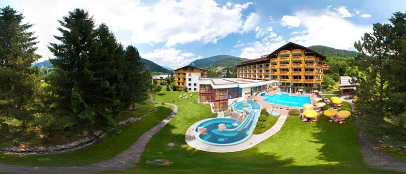 Hotel Pulverer, Bad Kleinkirchheim, Austria - hotel exterior with swimming pool.jpg